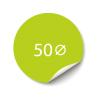Sticker 50x50 mm - Papier