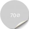 Sticker 70x70 mm - Synthetisch