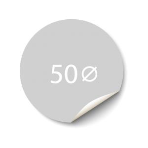 Sticker 50x50 mm - Synthetisch