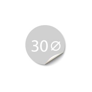 Sticker 30x30 mm - Synthetisch