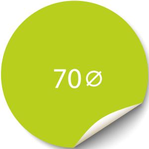 Sticker 70x70 mm - Papier