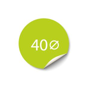 Sticker 40x40 mm - Papier