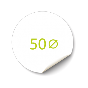 Sticker 50x50 mm - Transparant