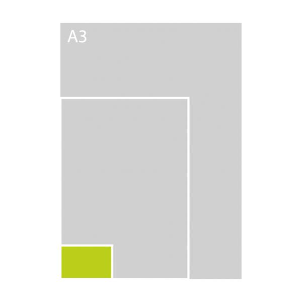 85x55 mm zonder tussenlaag (L)