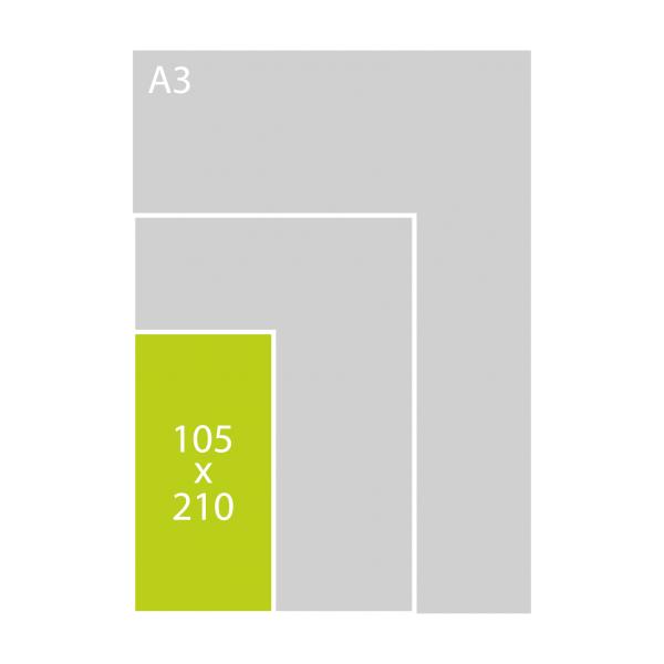 105x210 mm dubbel (P)