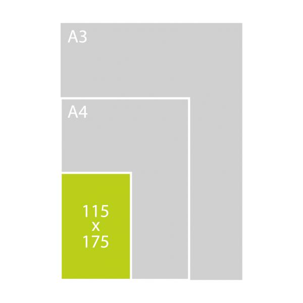 115x175 mm met 1 tussenlaag (P)