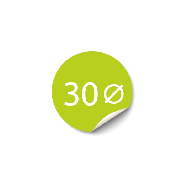 Sticker 30x30 mm - Papier