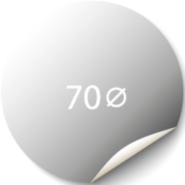 Sticker 70x70 mm - Silver Metallic
