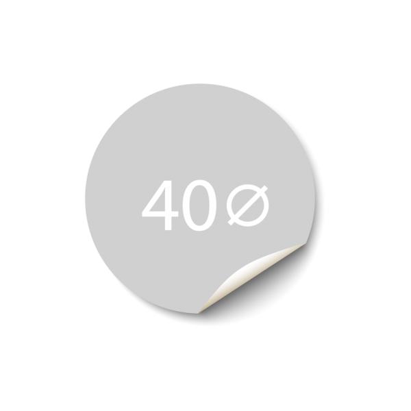 Sticker 40x40 mm - Synthetisch