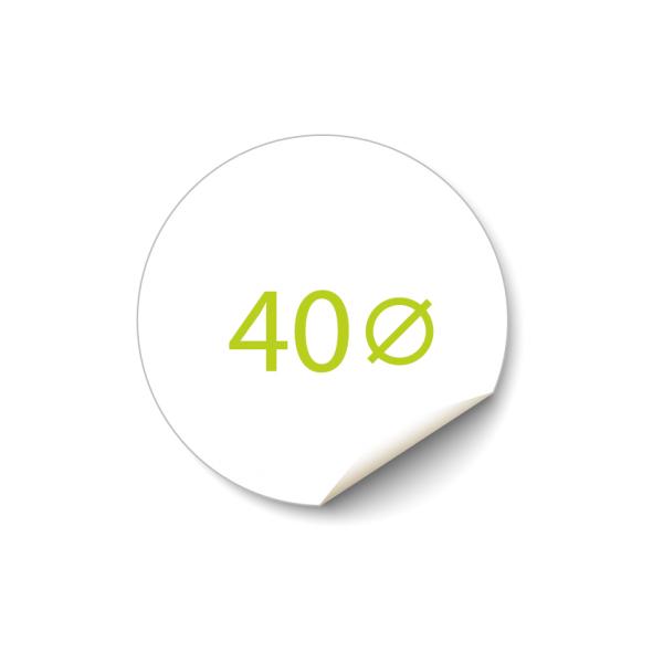 Sticker 40x40 mm - Transparant